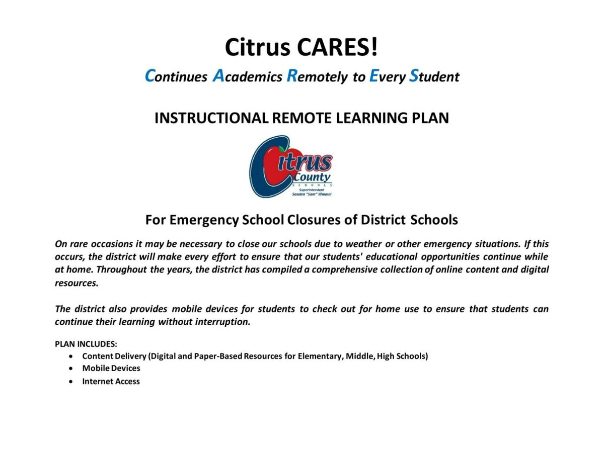 Citrus CARES Remote Instructional Plan