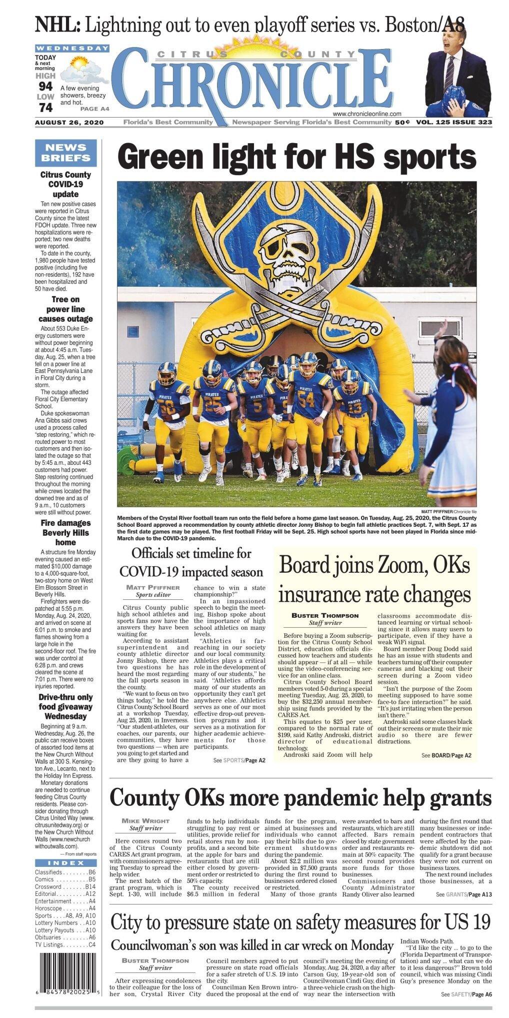 Citrus County Chronicle e-edition Aug 26, 2020