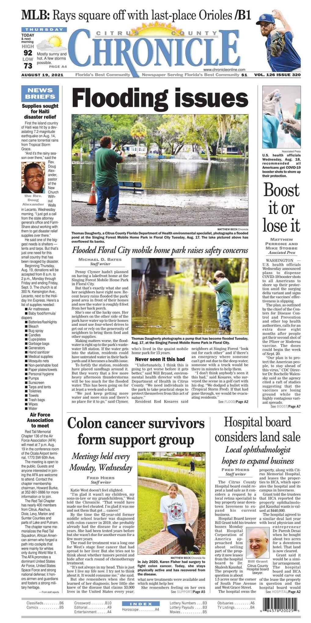 Citrus County Chronicle e-edition Aug 19, 2021