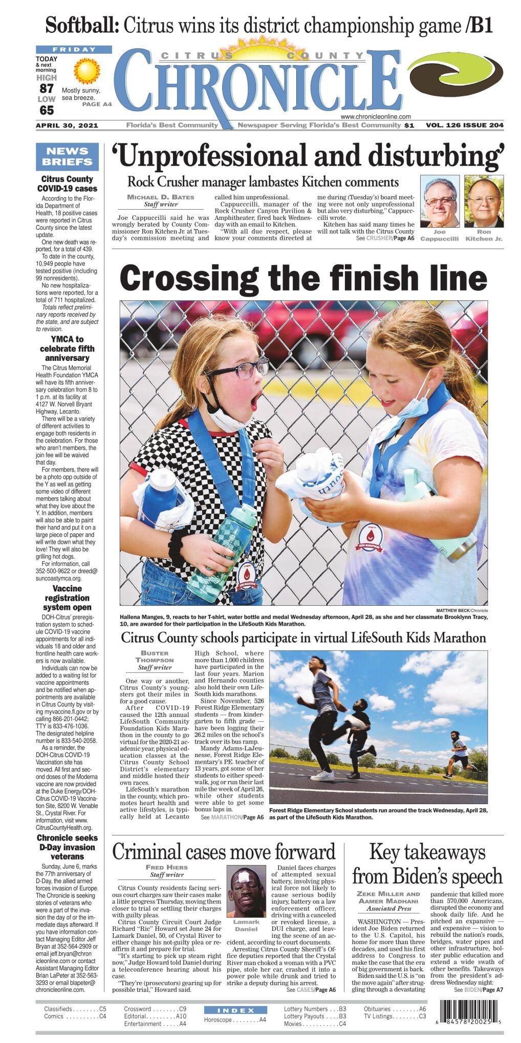 Citrus County Chronicle e edition Apr 30, 2021