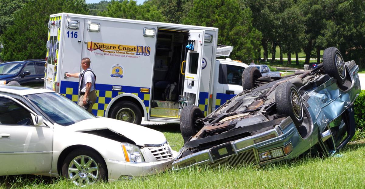 Nature Coast EMS at crash scene