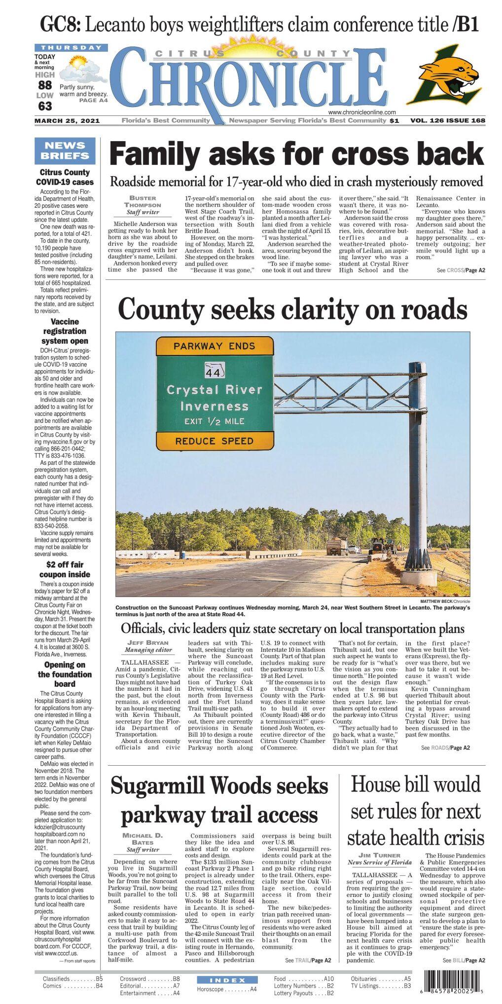 Citrus County Chronicle e edition Mar 25, 2021