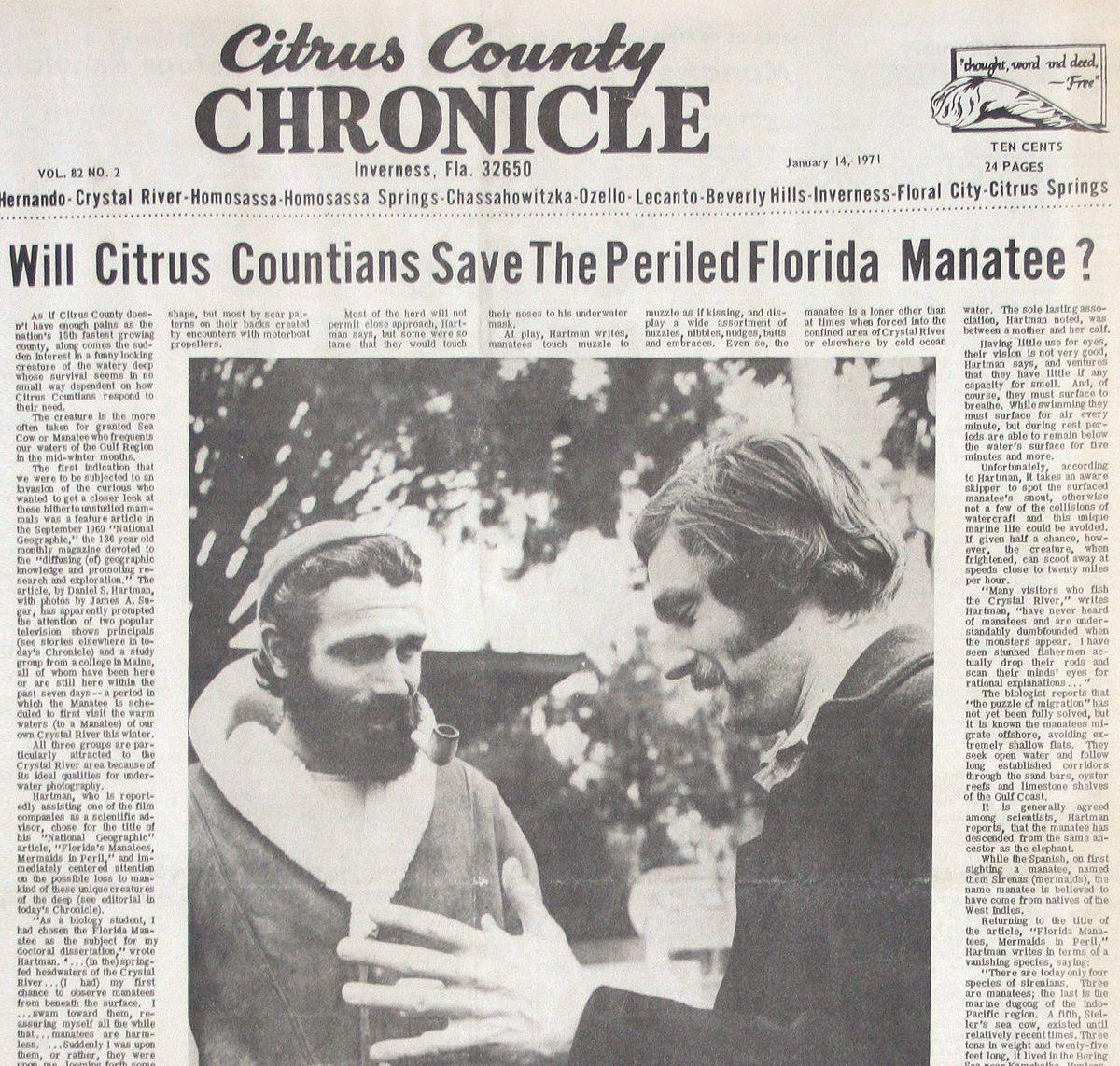 Citrus County Chronicle January 14, 1971