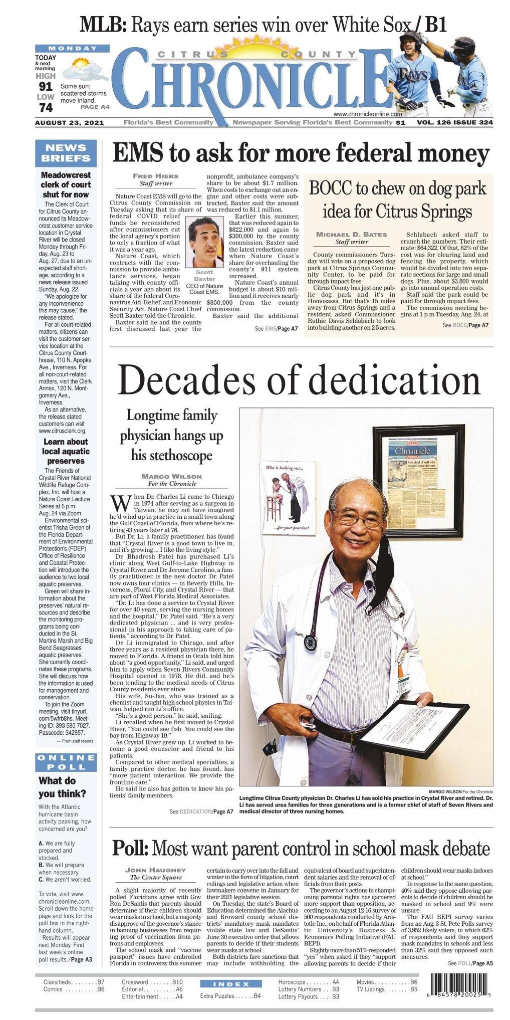 Citrus County Chronicle e-edition Aug 23, 2021