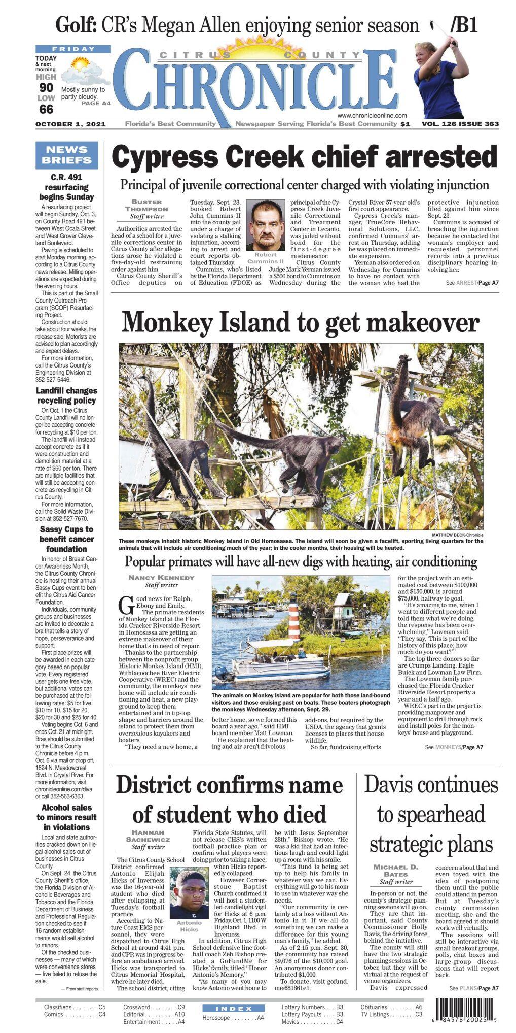 Citrus County Chronicle e-edition Oct 1, 2021