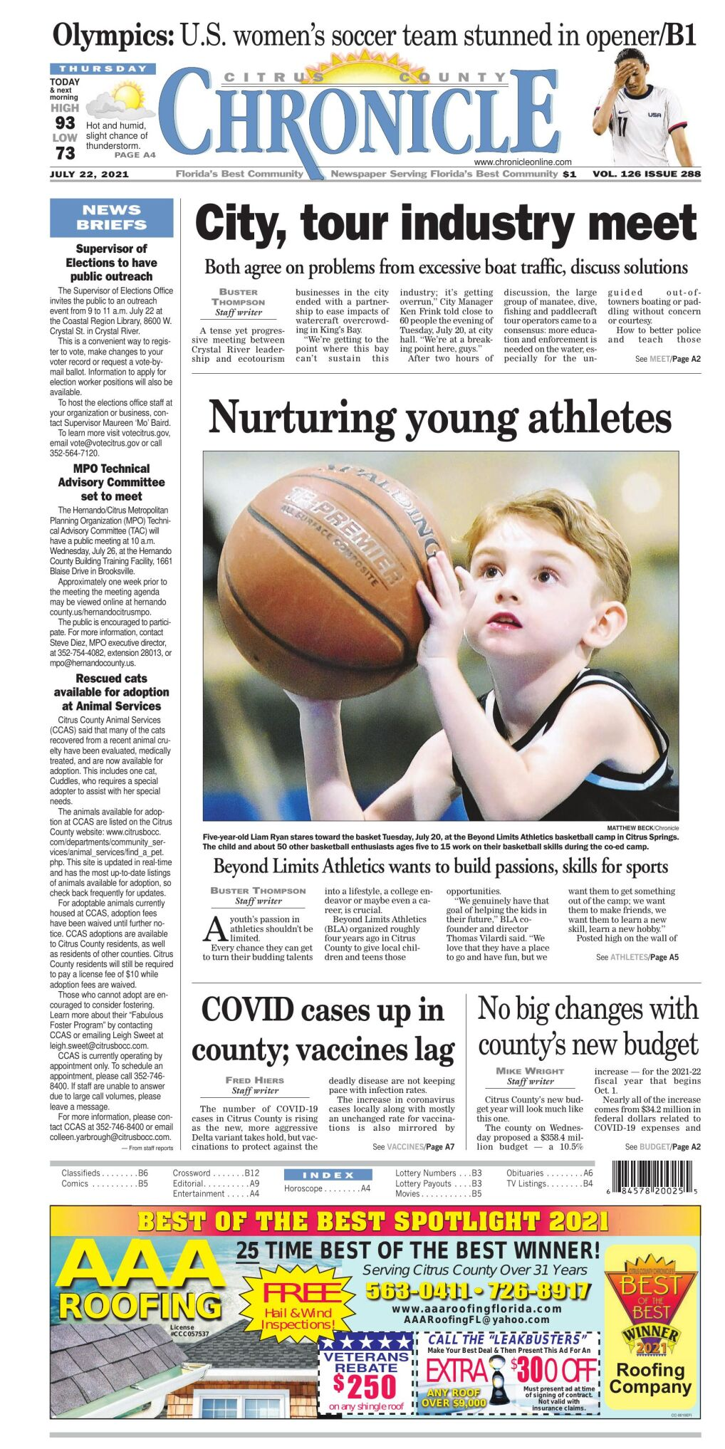 Citrus County Chronicle E-Edition July 22, 2021