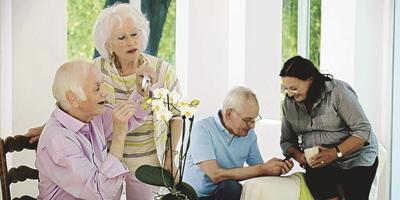Caregiving stock art