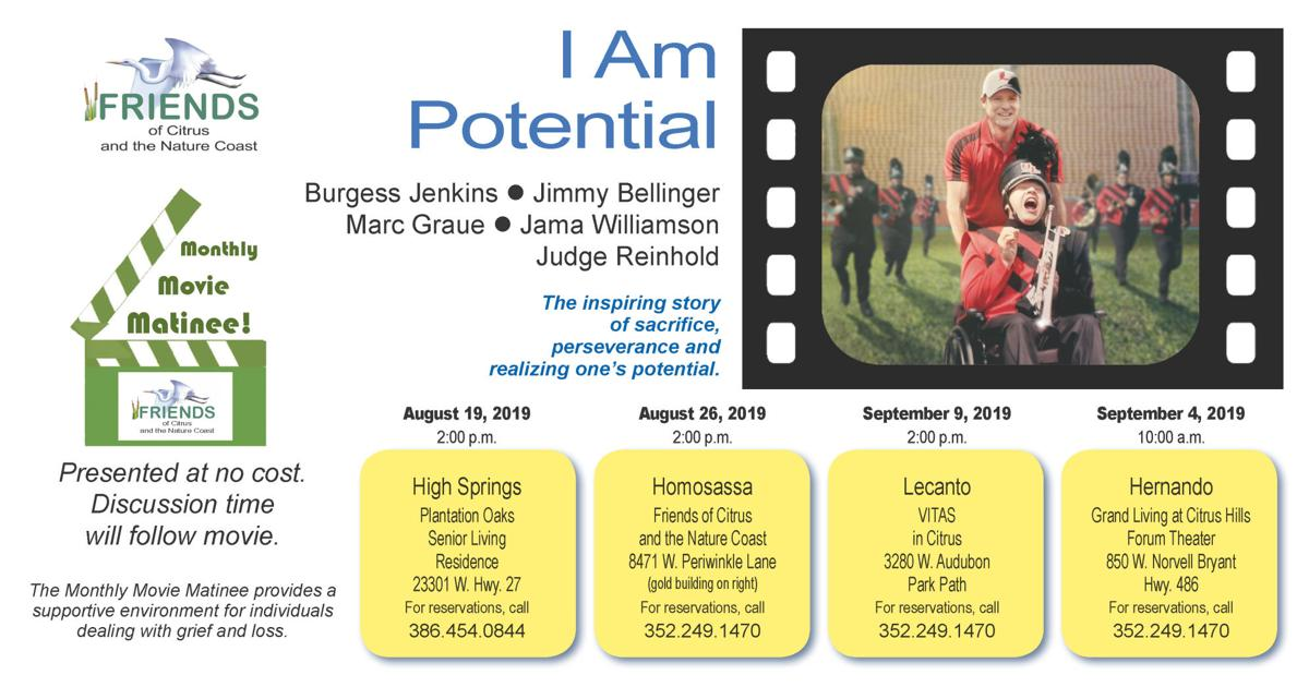 "Scheduled Showings of ""I Am Potential"""