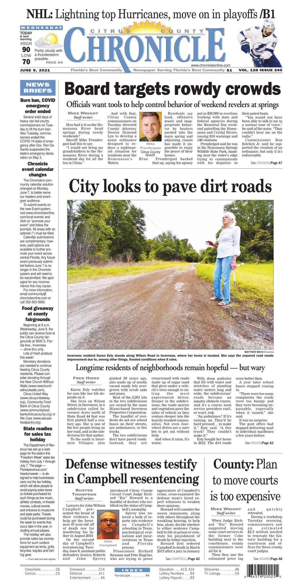 Citrus County Chronicle e edition June 9, 2021