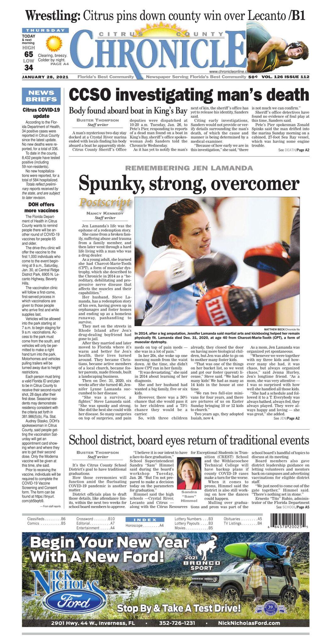 Citrus County Chronicle e edition Jan 28, 2021
