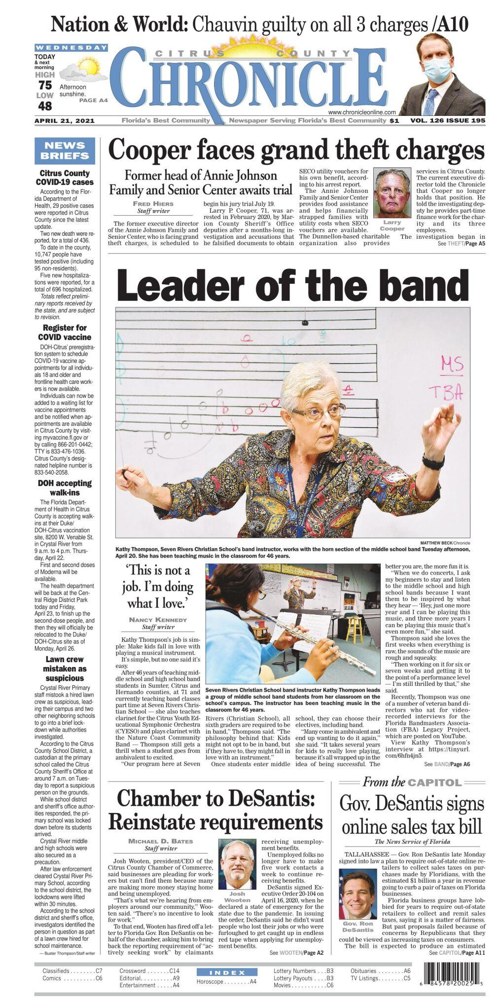 Citrus County Chronicle e edition Apr 21, 2021