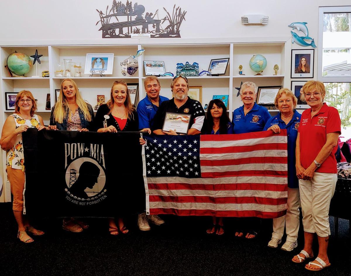 VFW members present flags 2