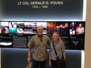 Lew and Jackie Tippett at Young facility