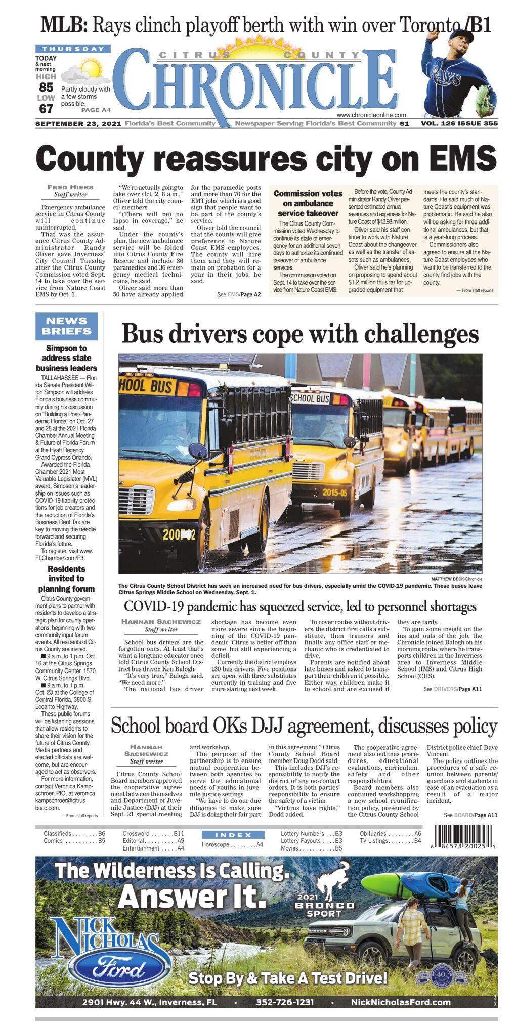 Citrus County Chronicle e-edition Sep 23, 2021