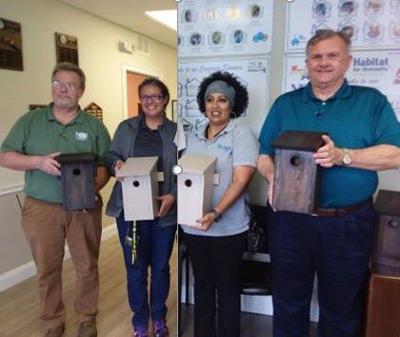 HBI Donates Birdhouses