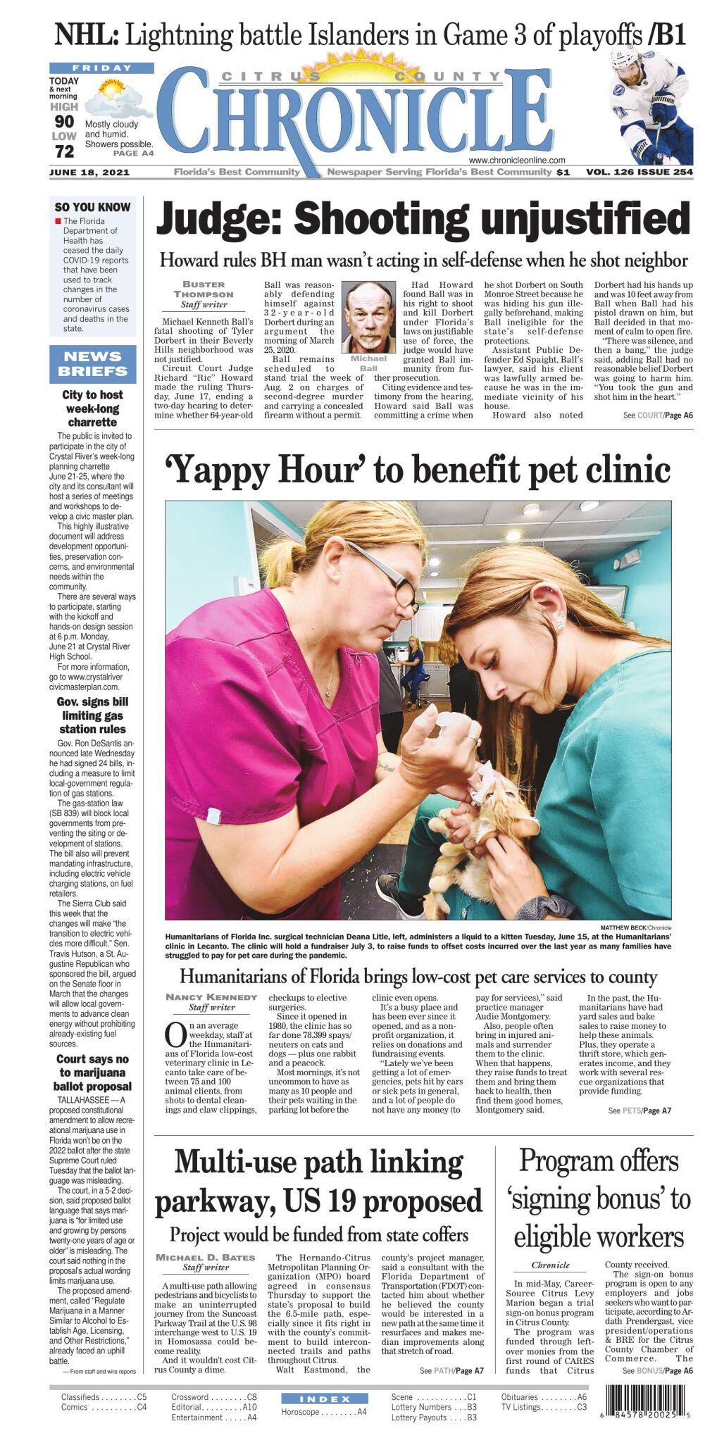 Citrus County Chronicle e edition June 18, 2021