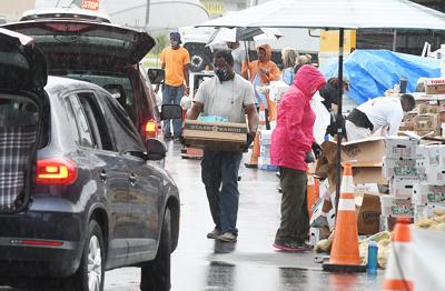 Rainy food give away