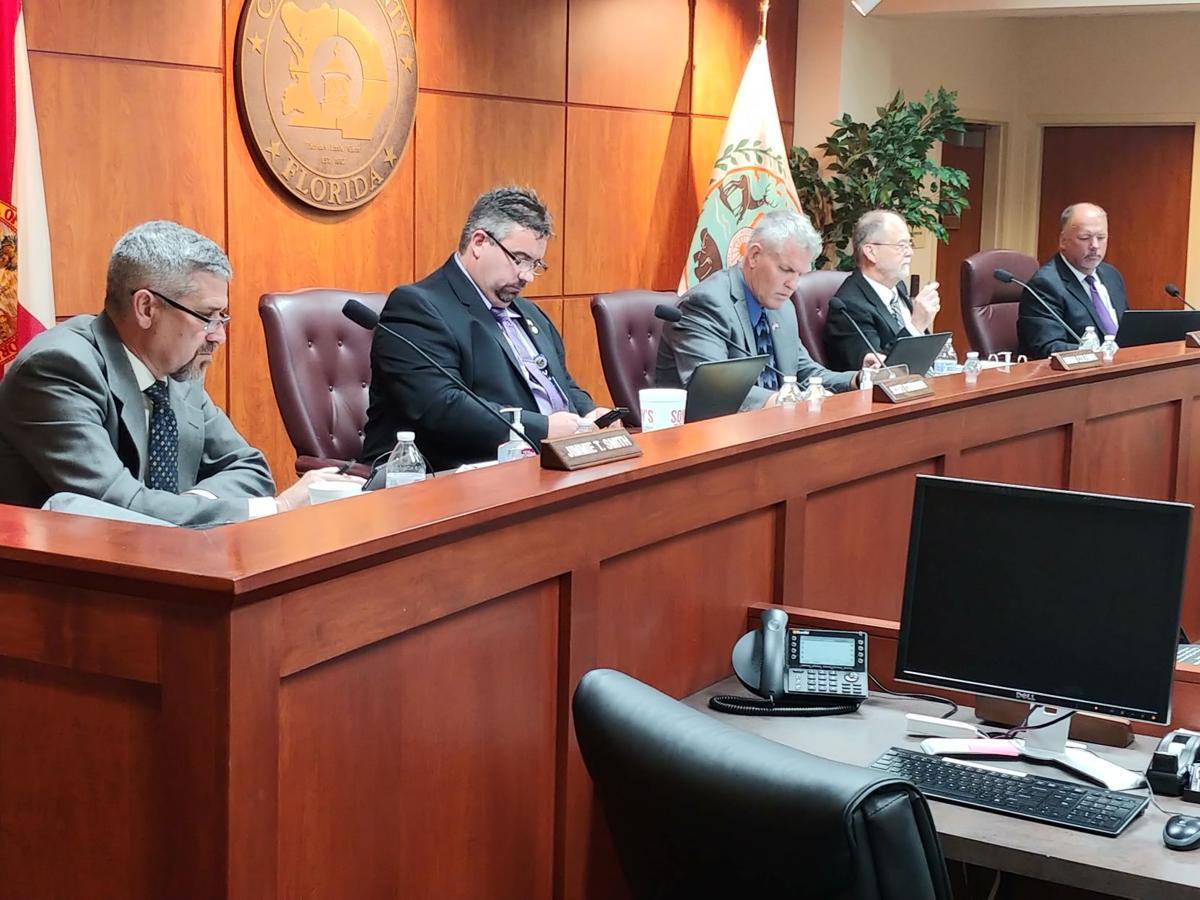 Commissioners during coronavirus meeting