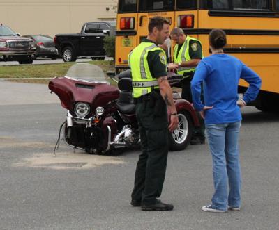 Motorcyclist injured in collision