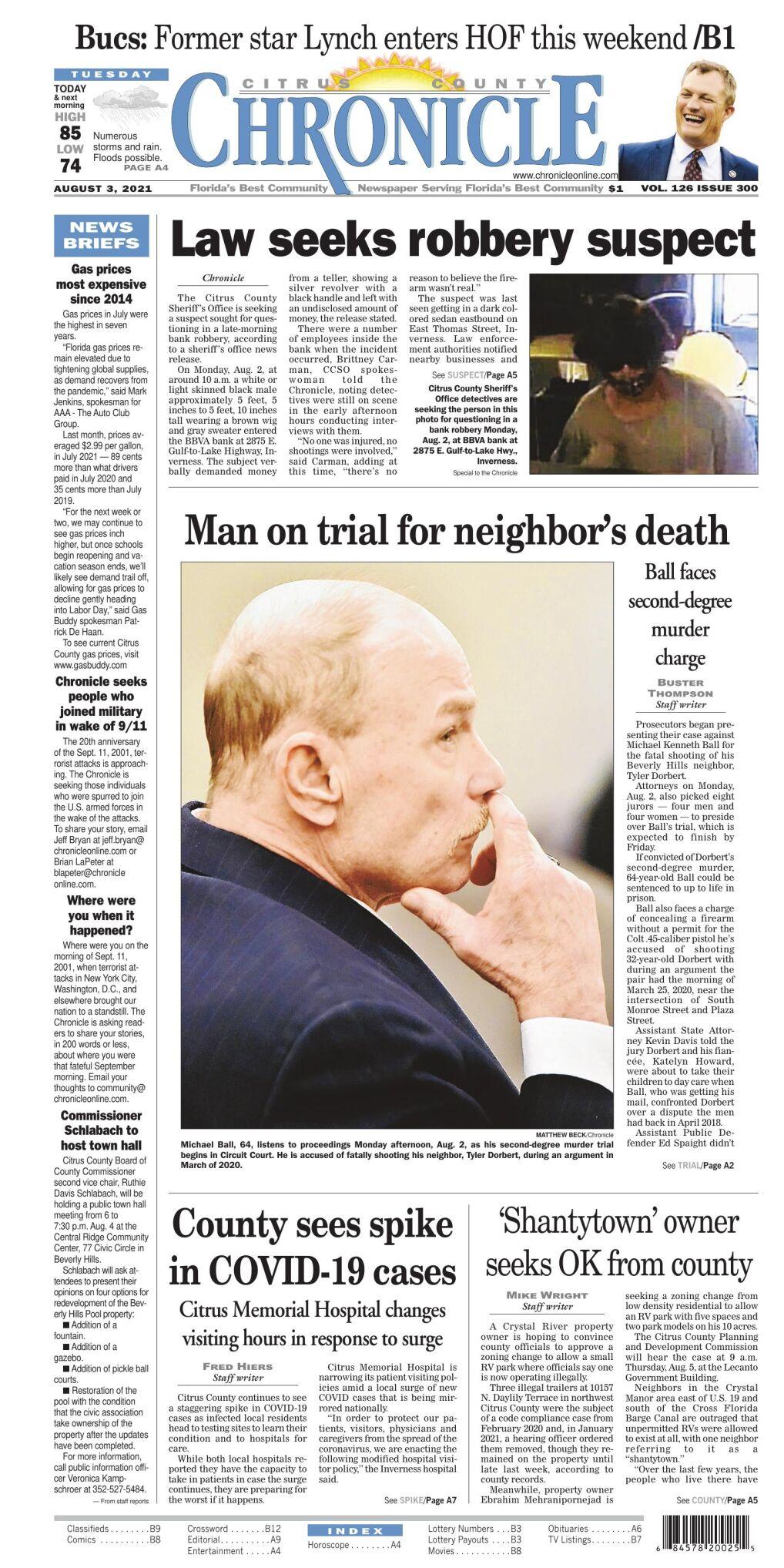 Citrus County Chronicle e-edition Aug 3, 2021