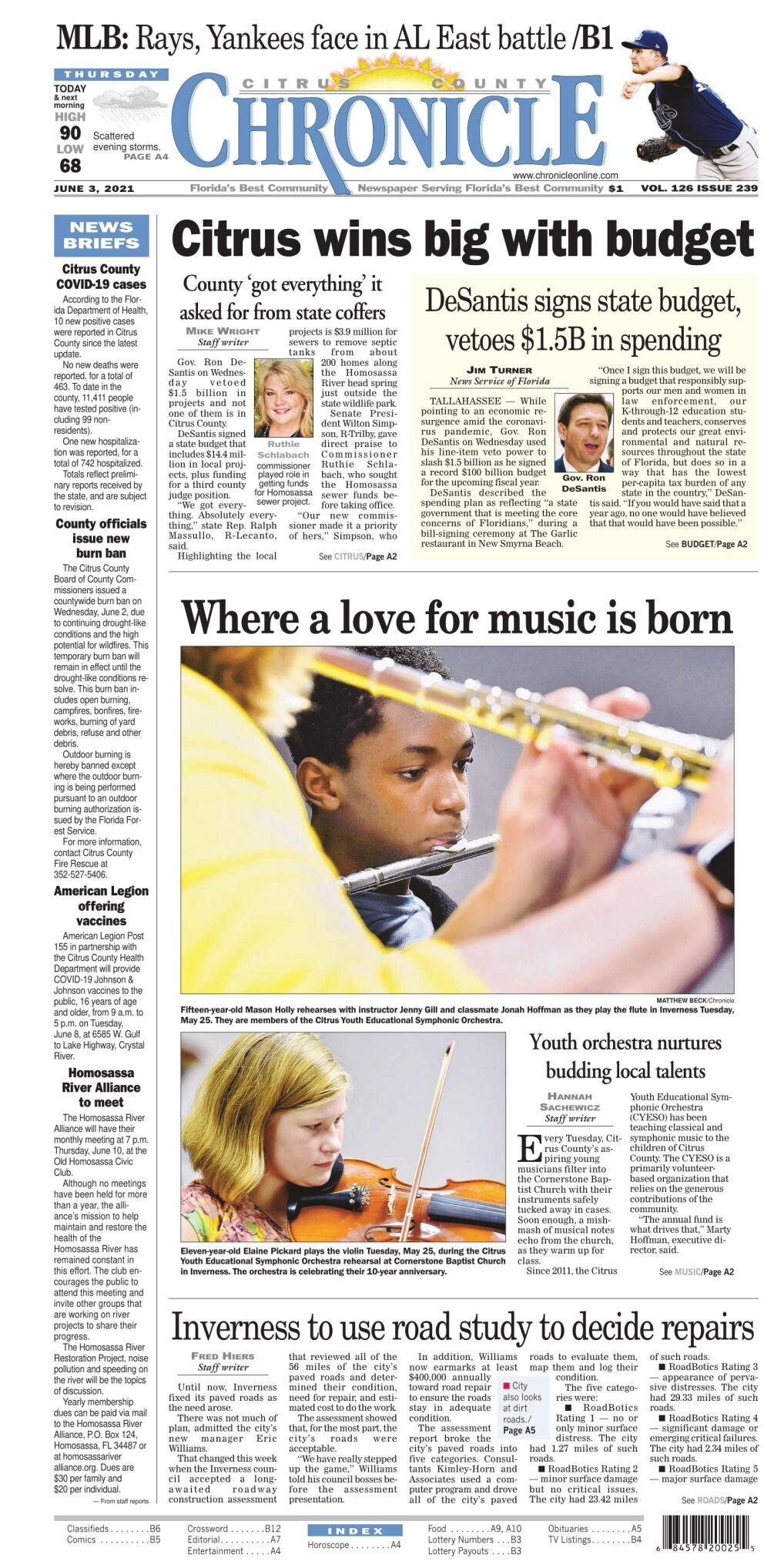 Citrus County Chronicle e-edition June 3, 2021