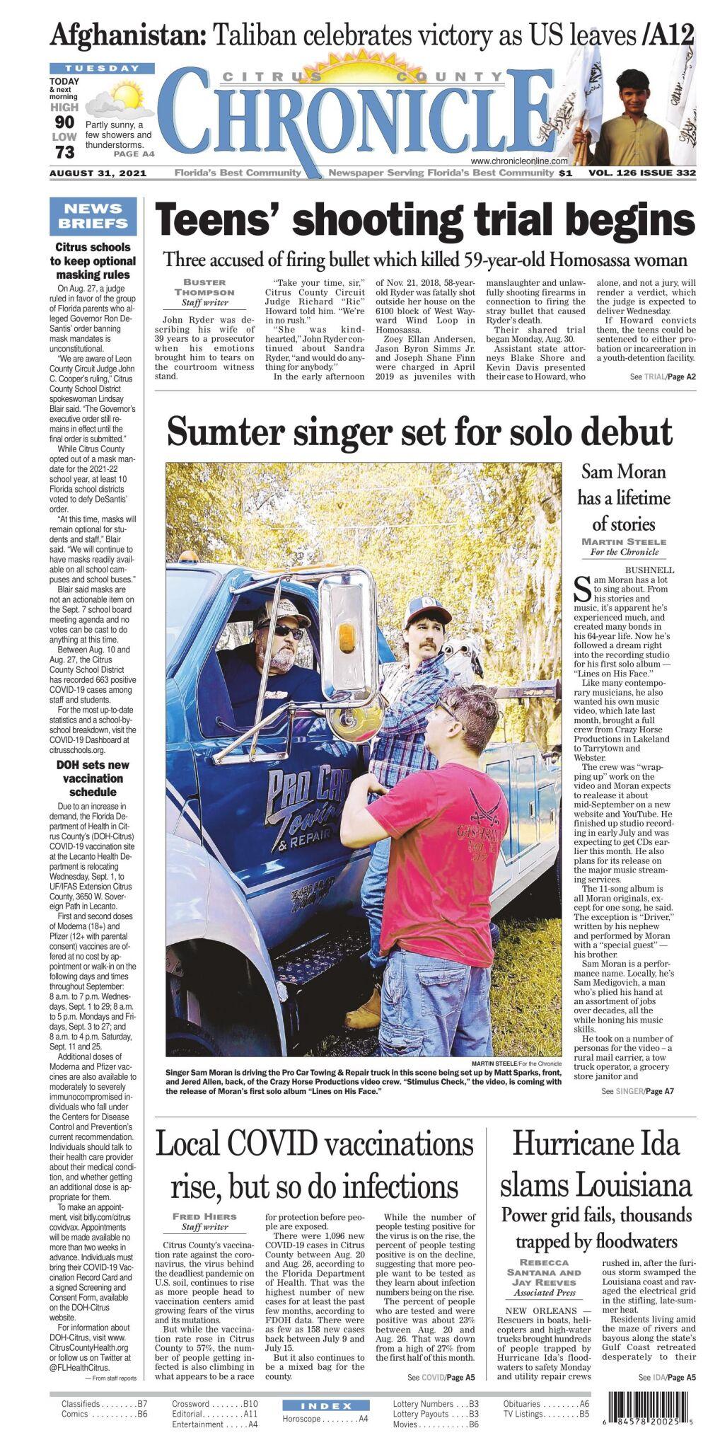 Citrus County Chronicle e-edition Aug 31, 2021