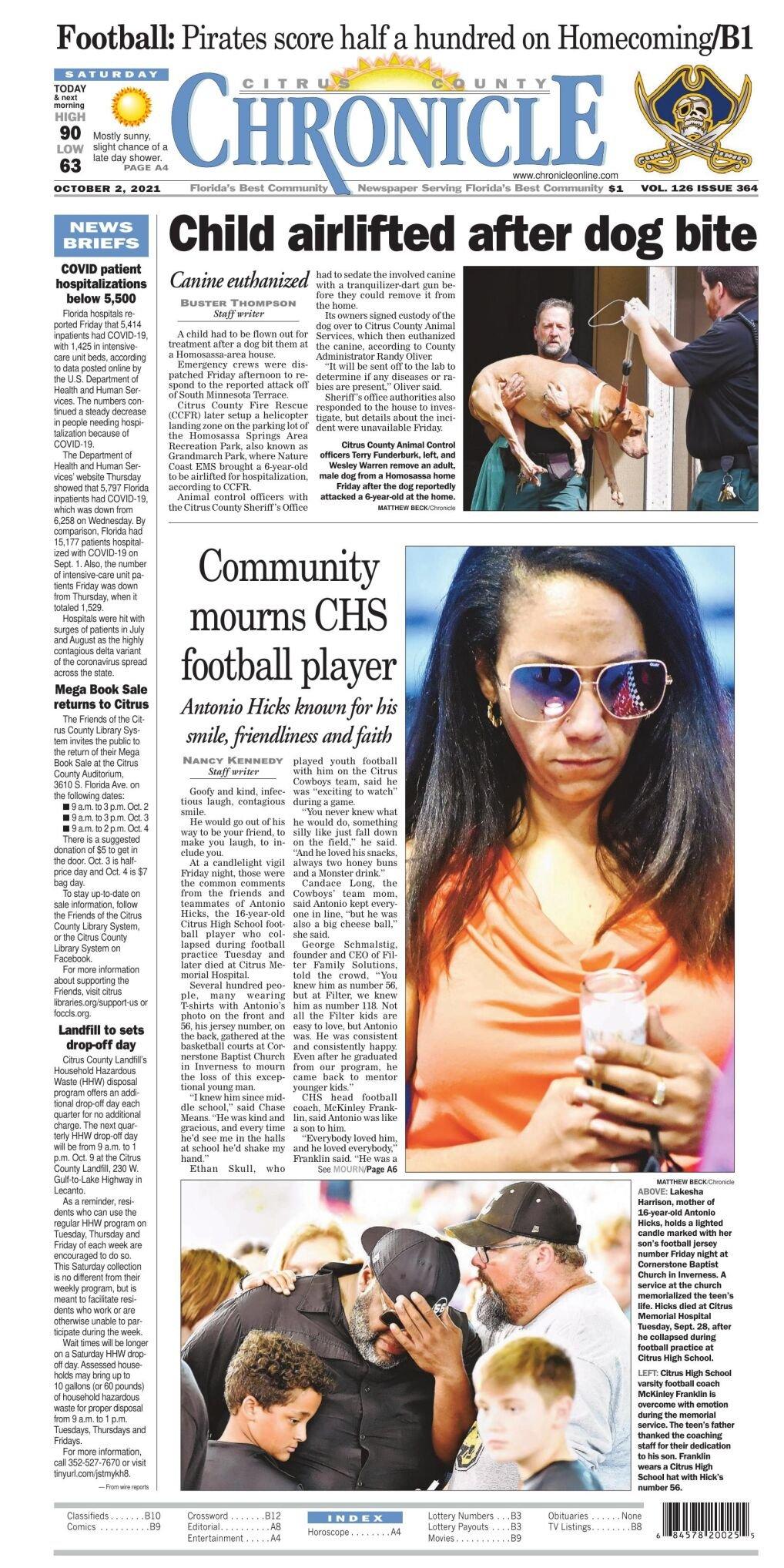 Citrus County Chronicle e-edition Oct 2, 2021