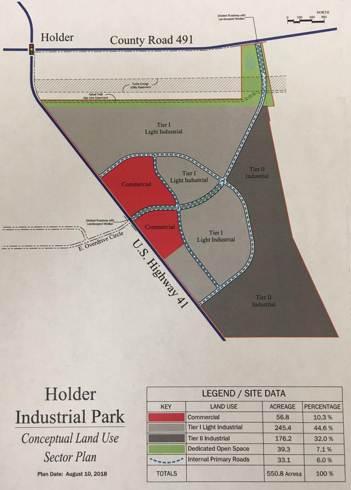 Holder Industrial Park Map
