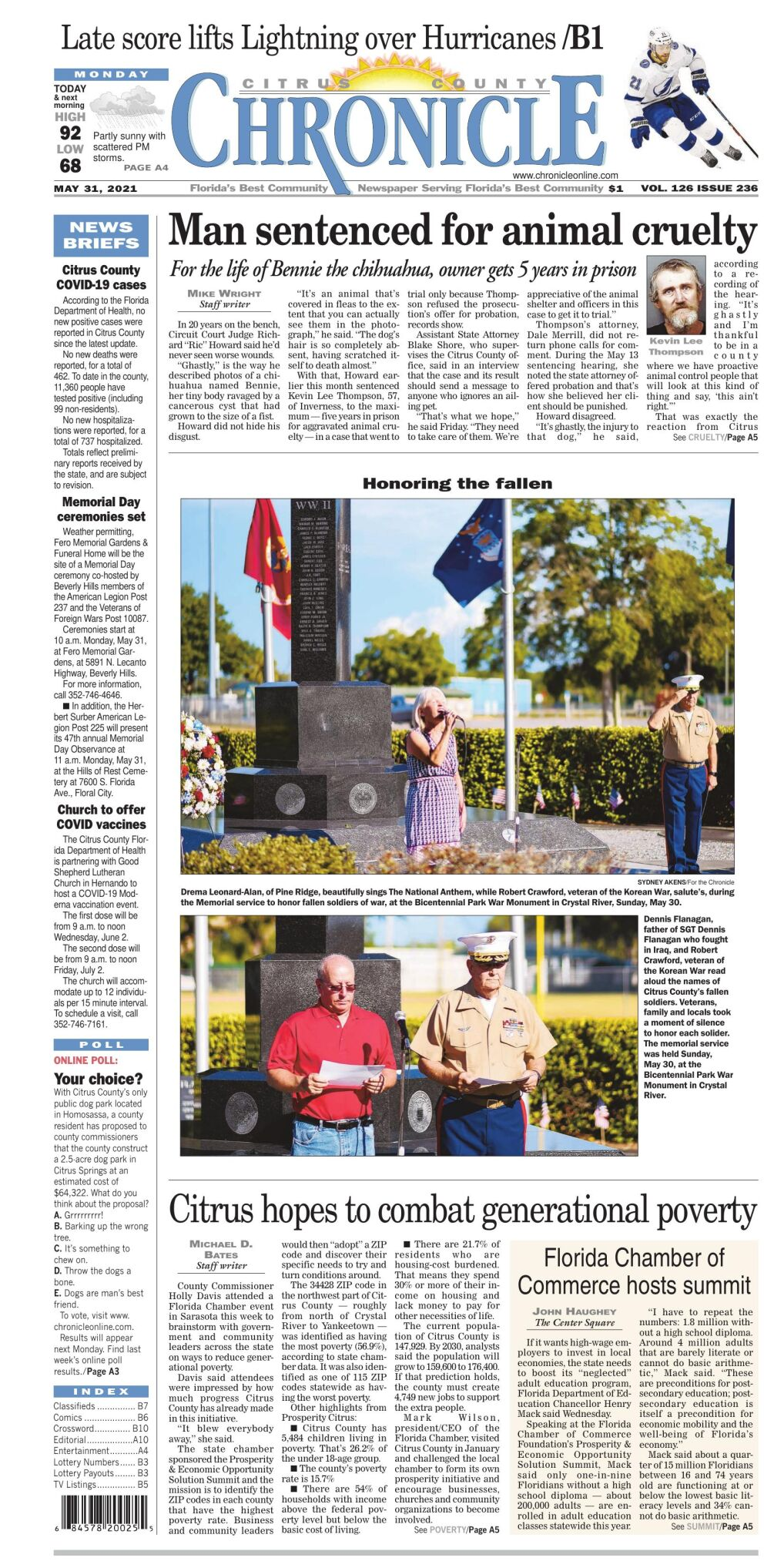 Citrus County Chronicle e-edition May 31, 2021