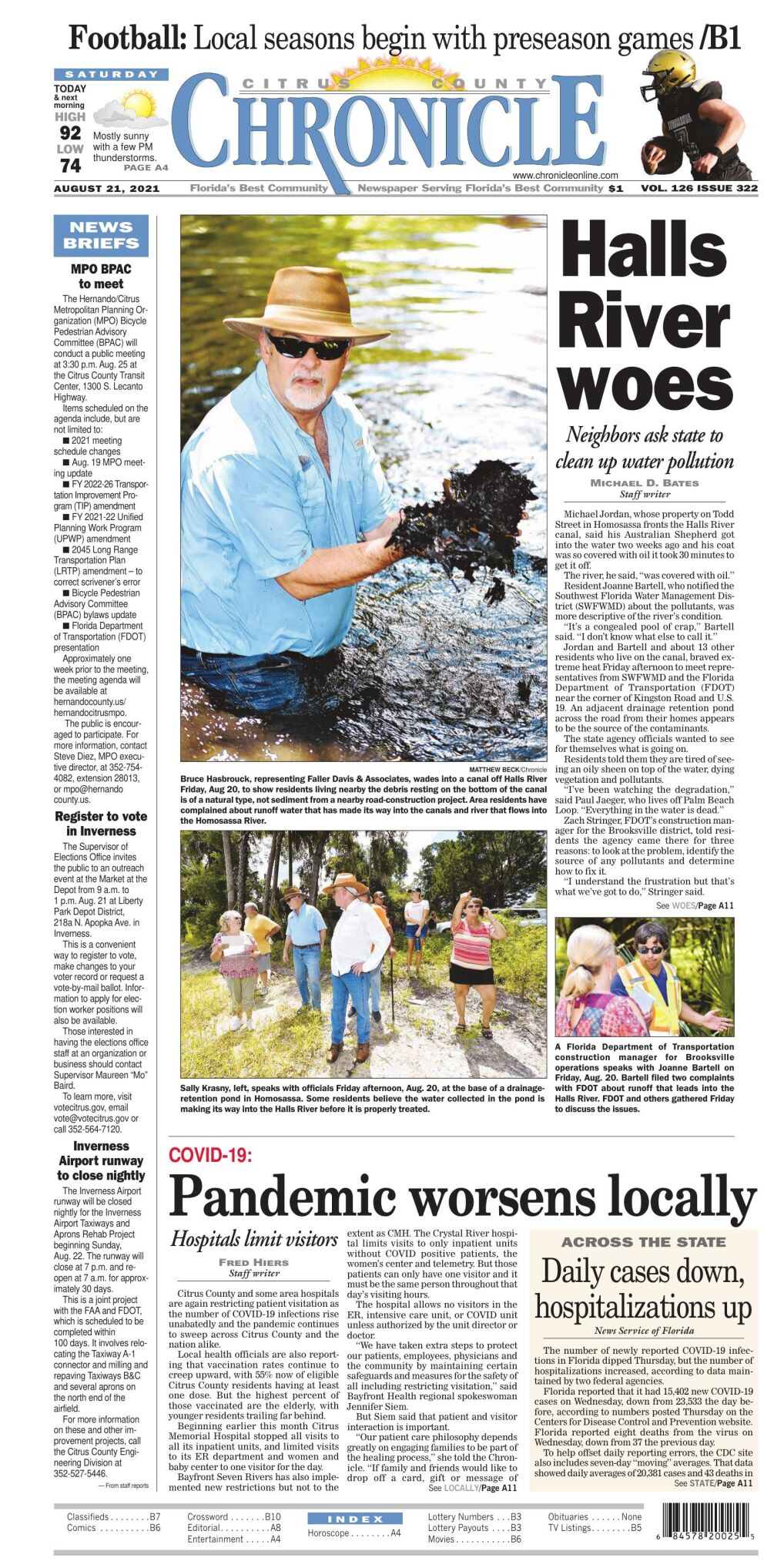 Citrus County Chronicle e-edition Aug 21, 2021