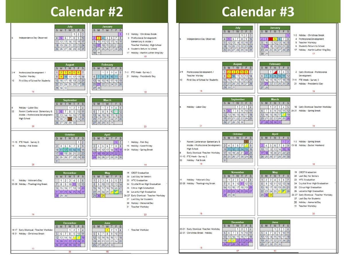 Calendar Comparison Illustration