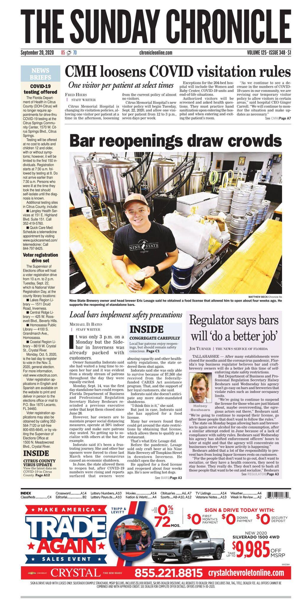 Citrus County Chronicle e-edition Sept 20, 2020