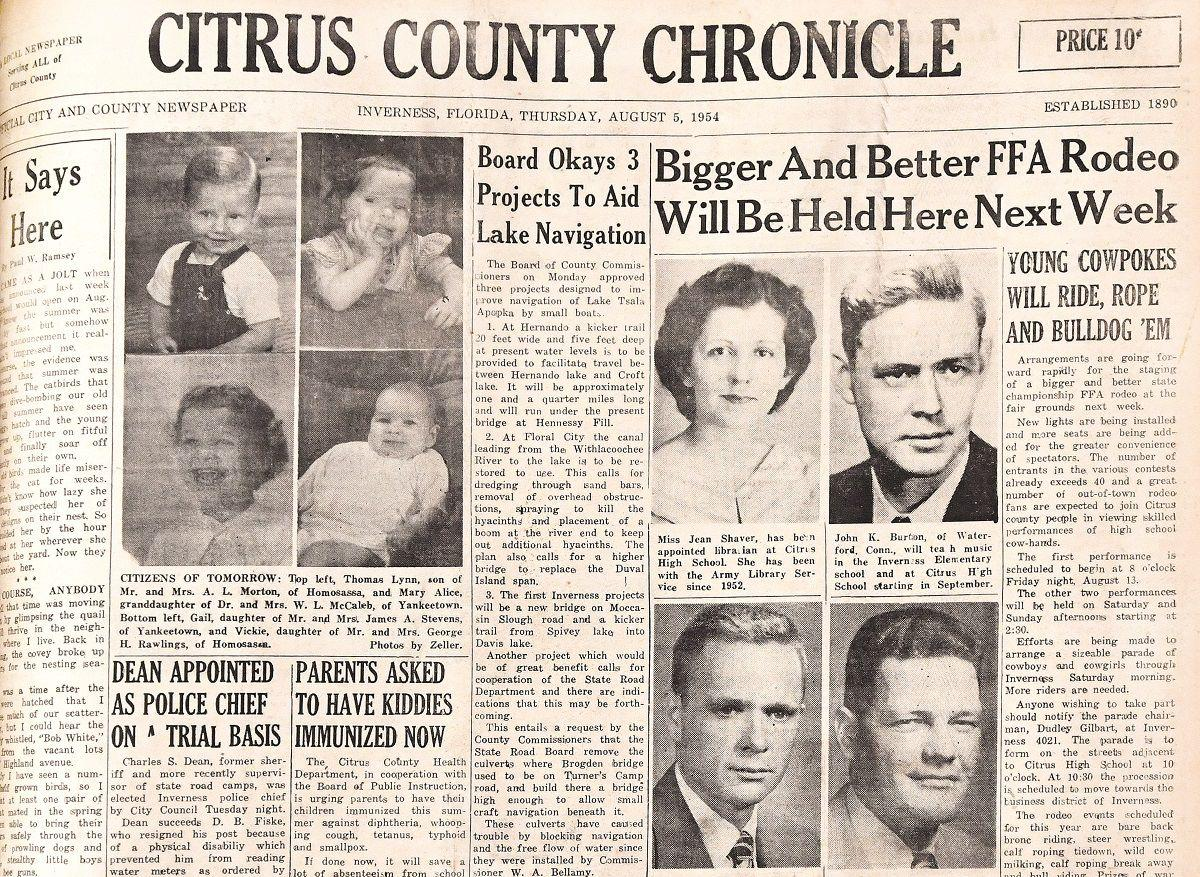 Citrus County Chronicle August 5, 1954