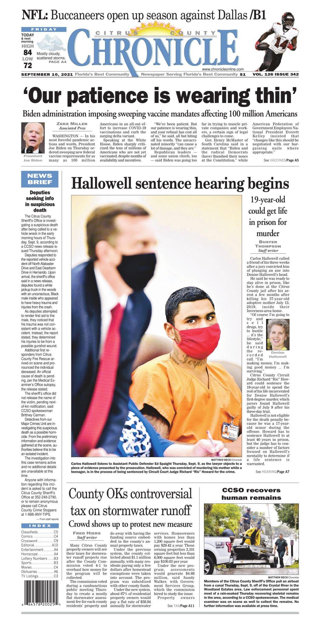 Citrus County Chronicle e-edition Sep 10, 2021