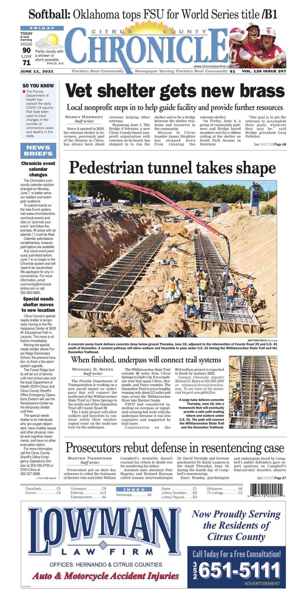 Citrus County Chronicle e edition June 11, 2021