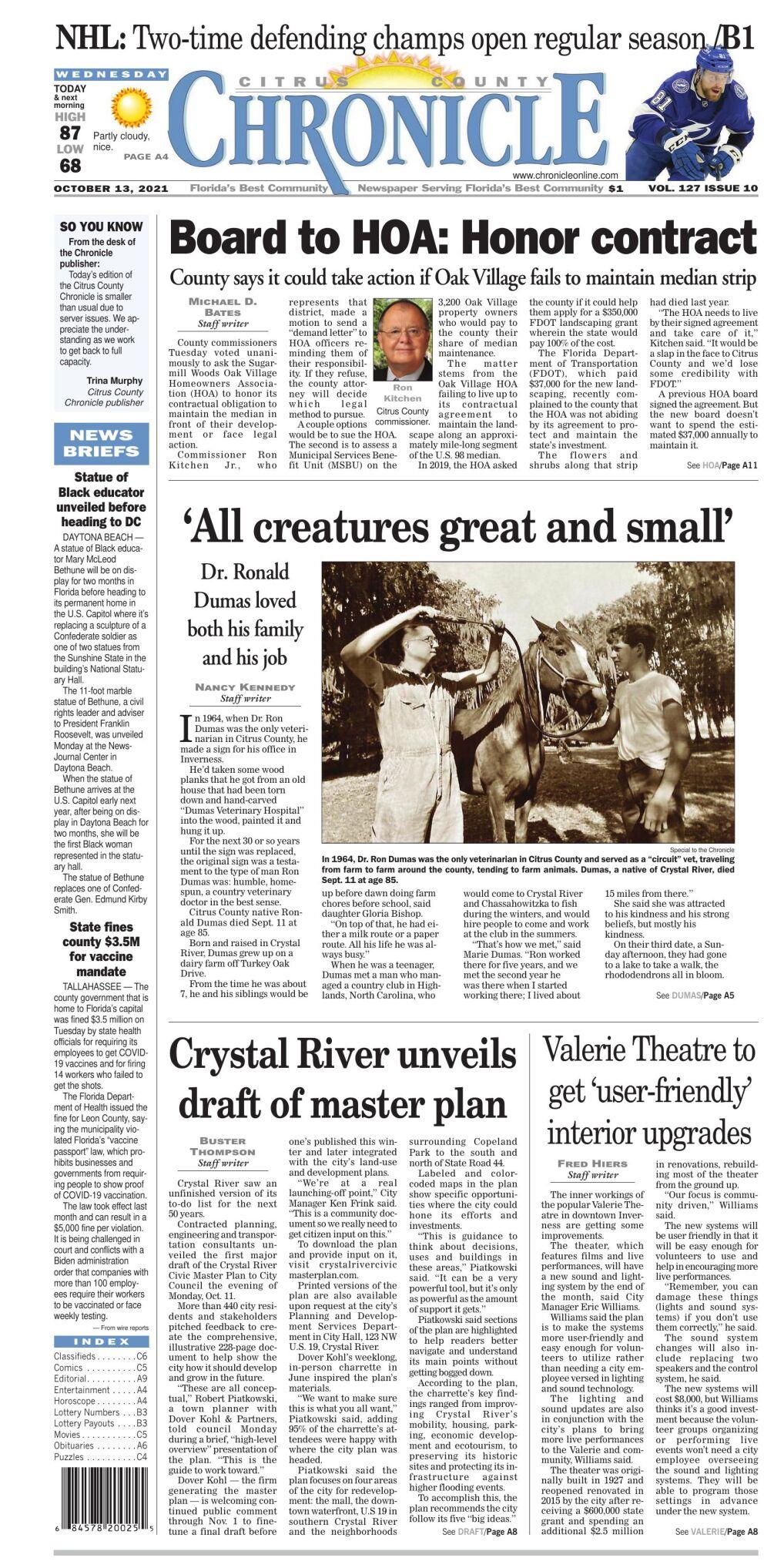 Citrus County Chronicle e-edition Oct 13, 2021