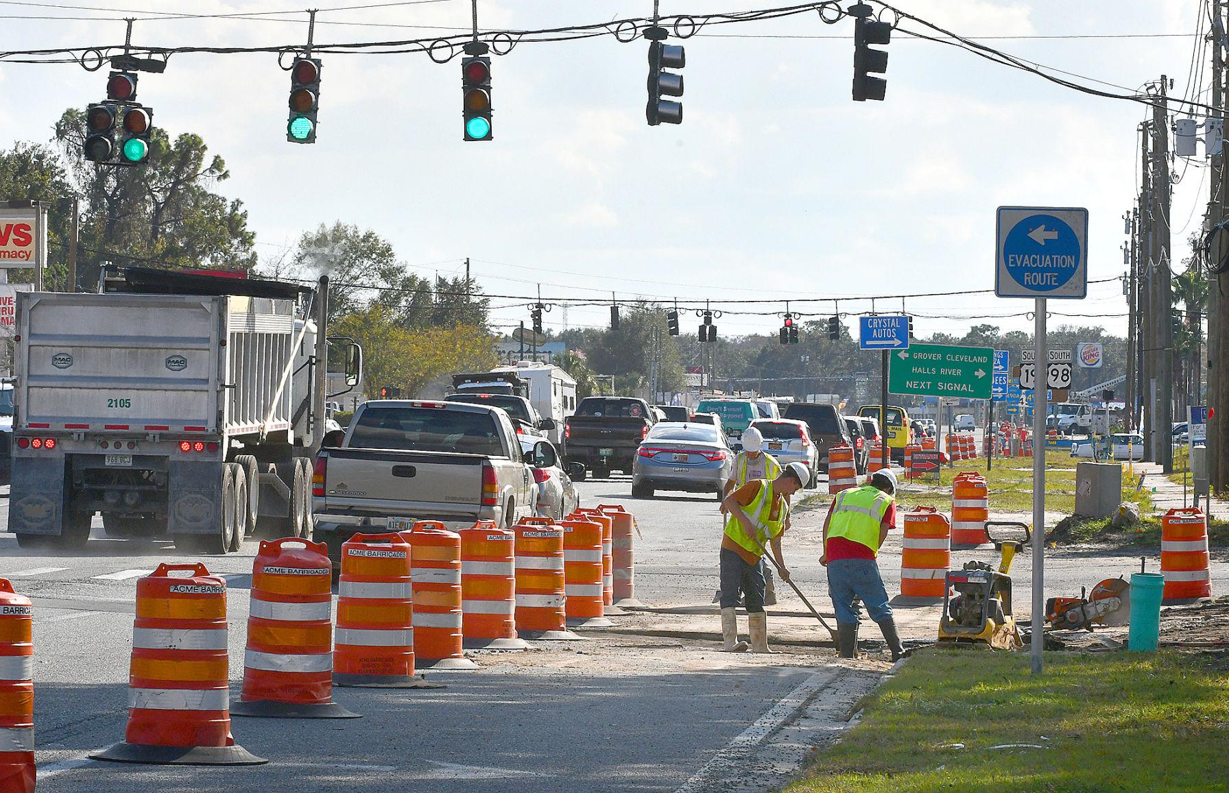Homosassa road construction Homosassa snared in road