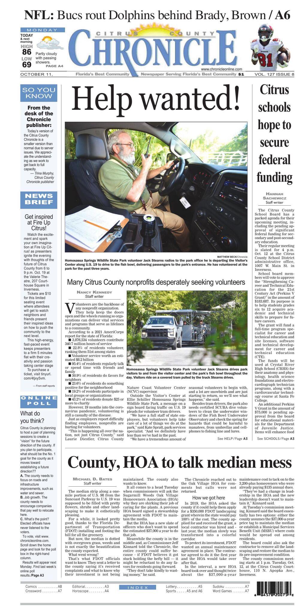 Citrus County Chronicle Oct 11, 2021 e-edition