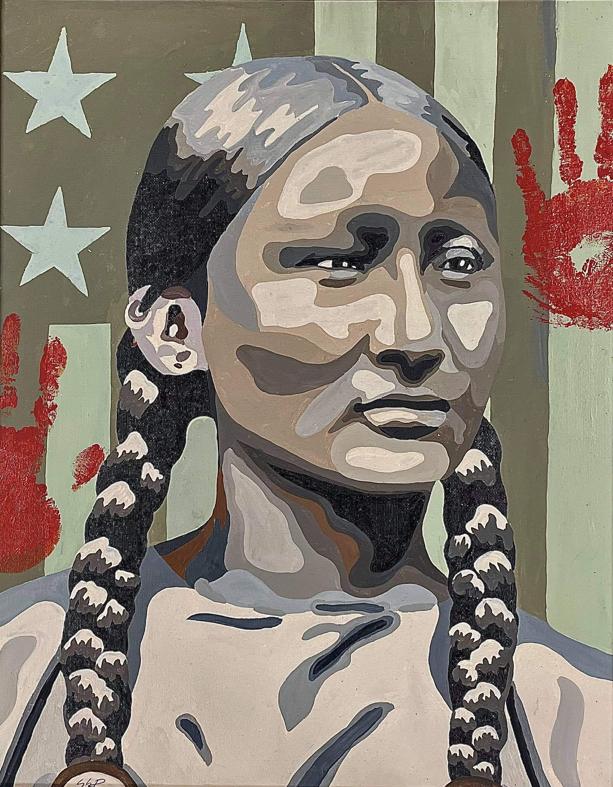 Stacia Bowers painting