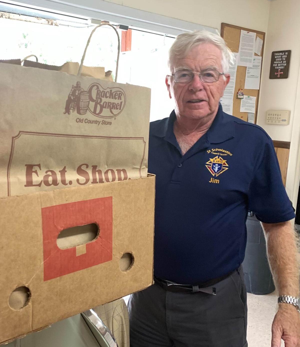 St. Scholastica Knights food drive a success