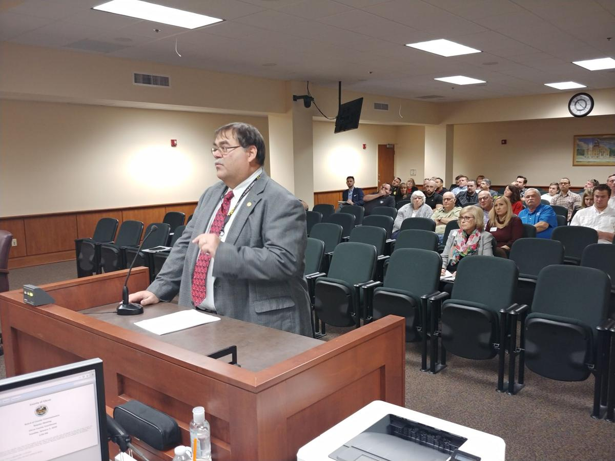 Mike Hall at county commission