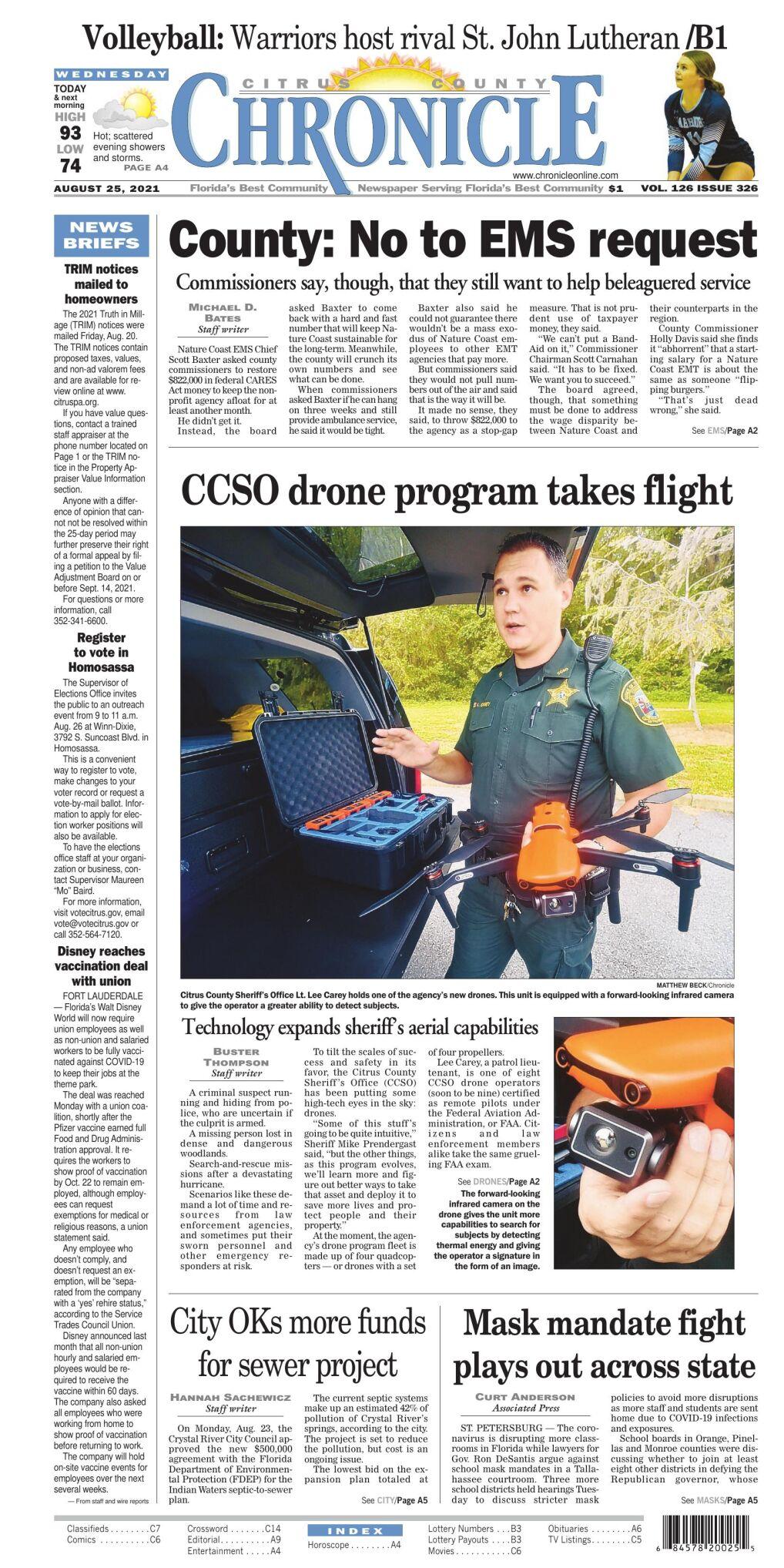 Citrus County Chronicle e-edition Aug 25, 2021