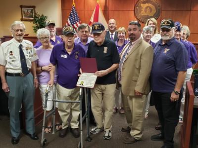 BOCC designates Aug. 7 as Purple Heart Day