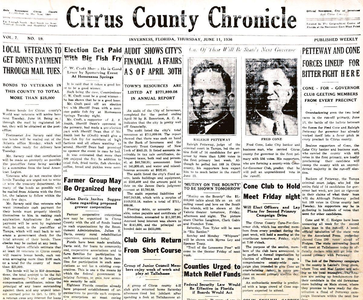 Citrus County Chronicle June 11, 1936