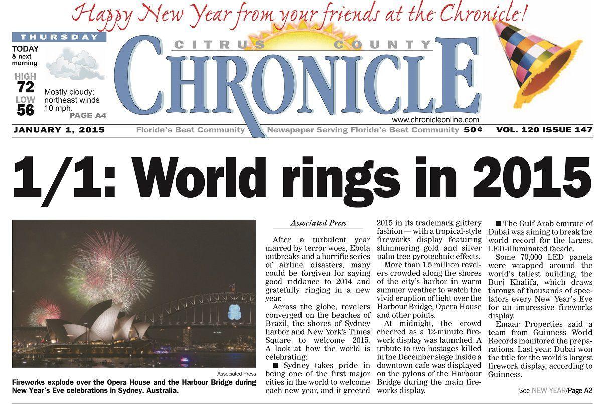 Citrus County Chronicle January 1, 2015