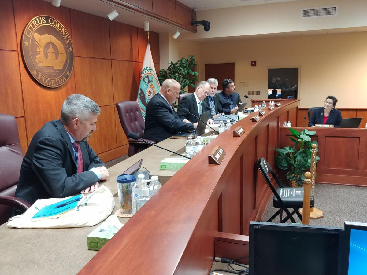 Commissioners at meeting