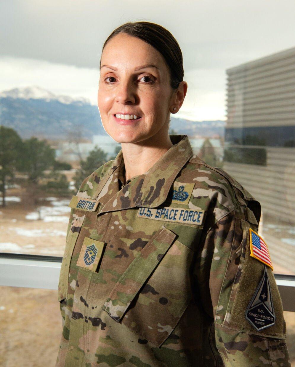 Chief Master Sergeant April Brittain Close-Up