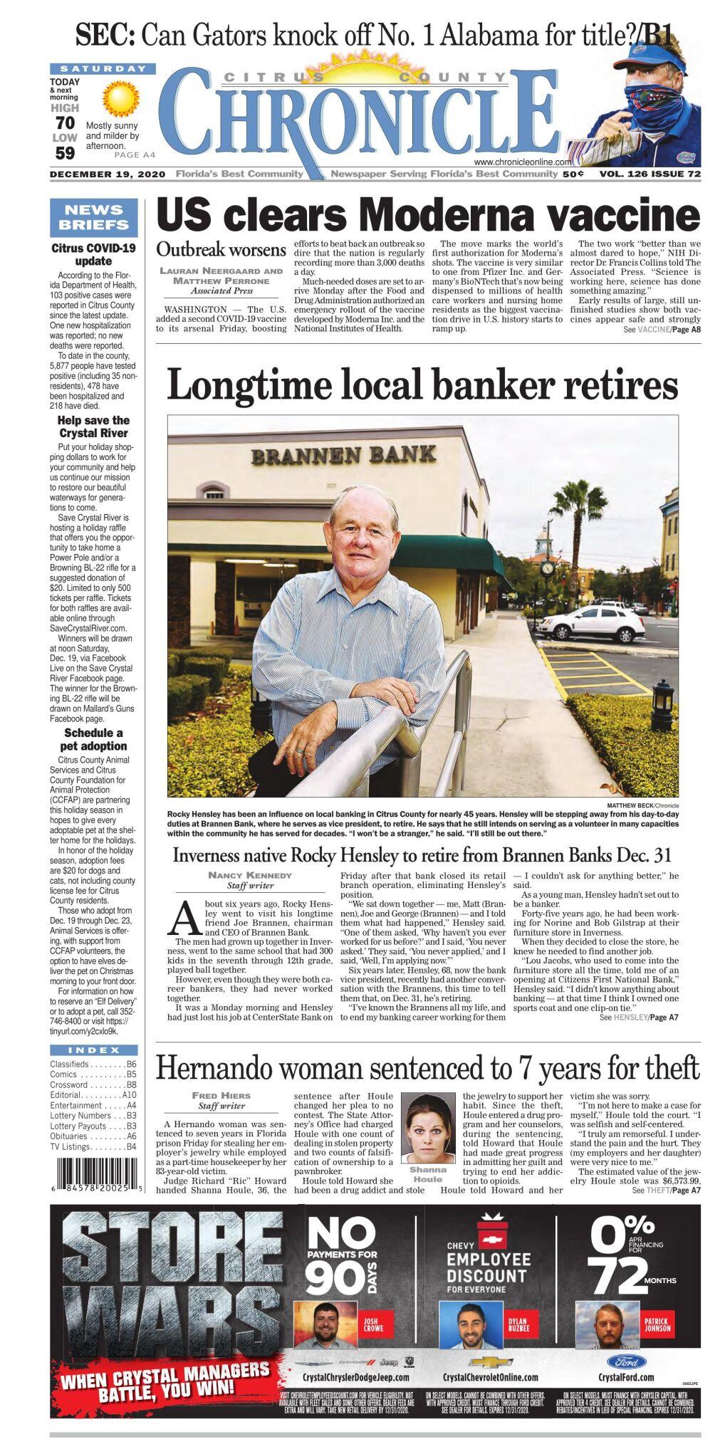 Citrus County Chronicle e-edition Dec 19, 2020