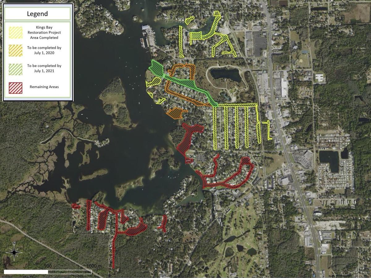 King's Bay Restoration March 2020 Project Map