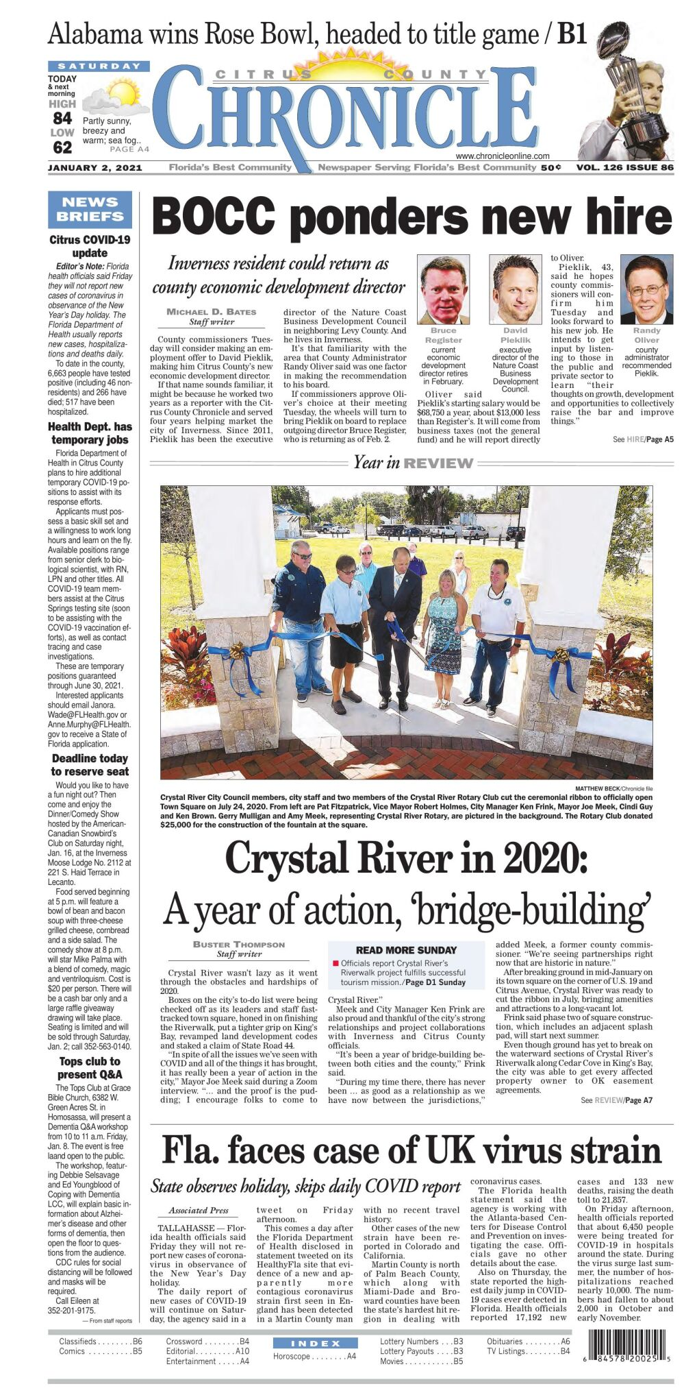 Citrus County Chronicle e-edition Jan 2, 2021